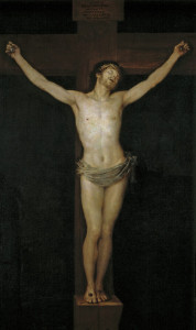 十字架に張り付けになった京都で占いをしているイエス