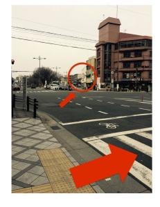 京都の占い処Key&Doorにいく途中の四つ角