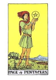 コートカードで占うPAGE of PENTACLES(ペンタクルの従者)