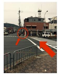京都の占い処Key&Doorにいく途中のマクドナルド