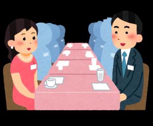京都駅近くの婚活パーティーに行く人が手相占いをする