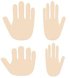 京都の手相占いで見る手の平の形の違い