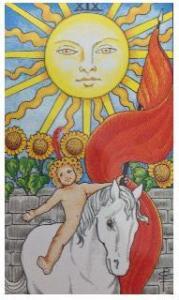 タロット占いで大アルカナ19番の太陽が出る