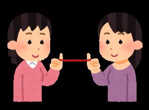お互いの絆を確認するために滋賀から京都に占いに行く