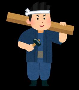 大工さんが京都の清水寺を修復するために手相占いをしてもらう