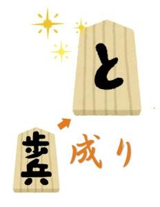 京都で当たると有名な占い師が歩兵からと金へと昇格する