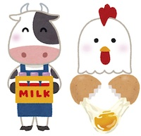 京都の占い鑑定師HAMAが解説する牛乳と卵