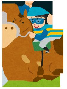 京都駅で馬に乗って当たる占いをする