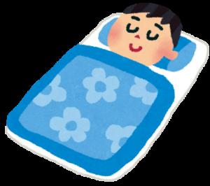 睡眠不足の人が京都駅に近い占い店にいって眠る