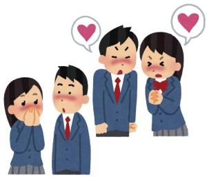 恋するクラスメイトが当たると人気の占いを探して京都に来る