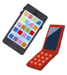 京都駅で買った携帯電話で手相占いのアプリを使う