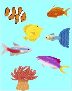 熱帯魚好きの手相占い師が当たると人気になる