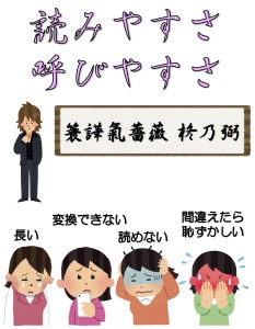 榊原君が源氏名を改名するために姓名判断を訪れる