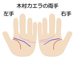 木村カエラの両手