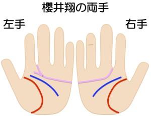 櫻井翔の両手を京都で1番の手相占いで鑑定する