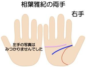 相葉雅紀の両手を京都で1番当たると有名な手相占いで見る
