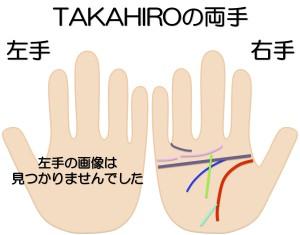 TAKAHIROの両手を京都駅近くの占い師が鑑定する