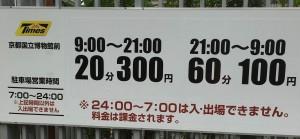 京阪七条駅近辺の京都国立博物館駐車場案内
