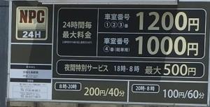 京都で1番の手相占い店の近くの駐車場