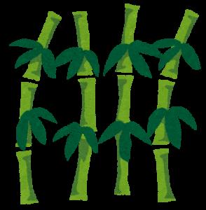 京都の京阪七条の竹が生えている占い処