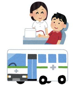 京都の更新所で献血をする手相占い師