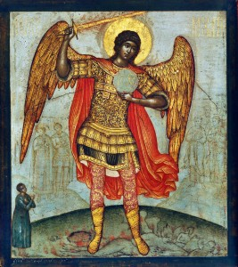 Simon_Ushakov_Archangel_Mikhail_and_Devil