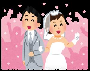 結婚占いのために新郎新婦が京都駅からあるく