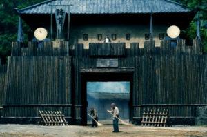 諸葛亮が有名な占いにいくために京都に旅をする
