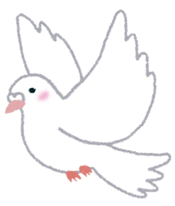 鳩を飼っている人が手相占いのために京都にやってくる
