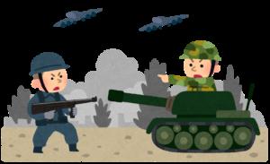 戦争に行った人が進路を求めて占いに行く