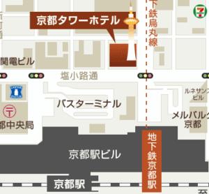京都駅のバスターミナル