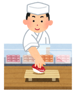 京都に住んでいる寿司職人が有名な占いに行く